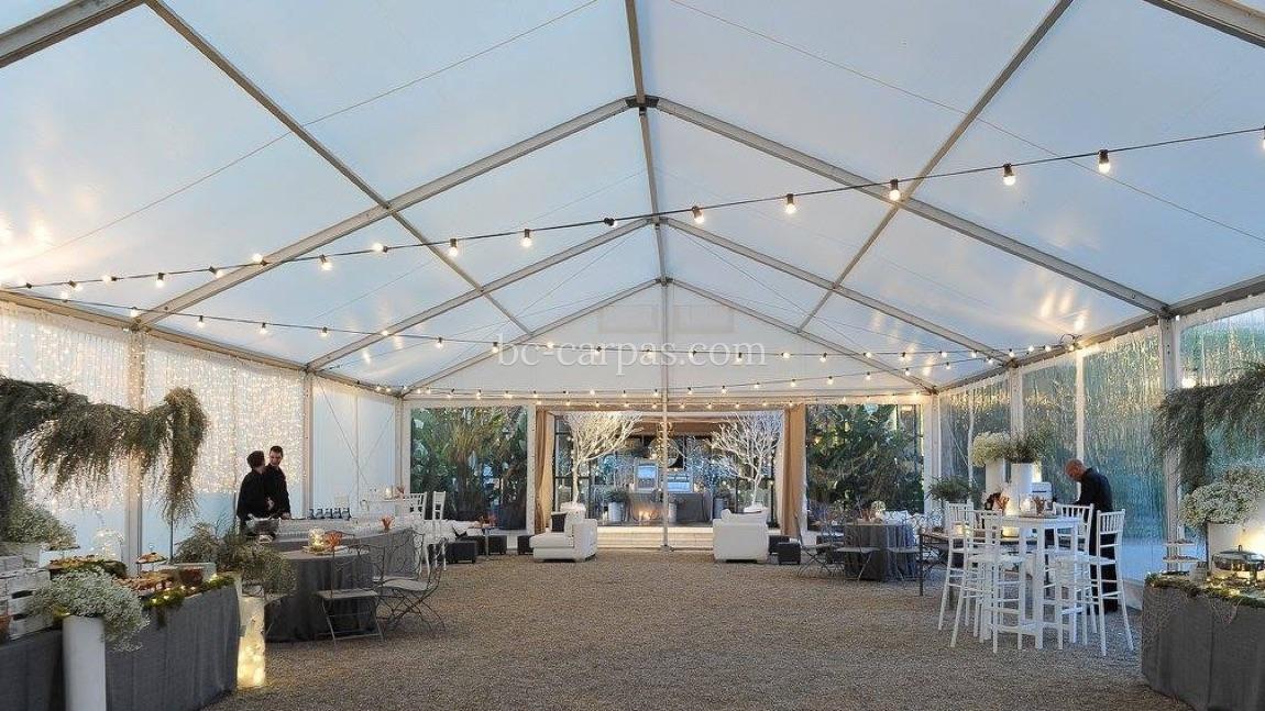 Iluminaci n para bodas y celebraciones bc carpas for Carpas para el jardin