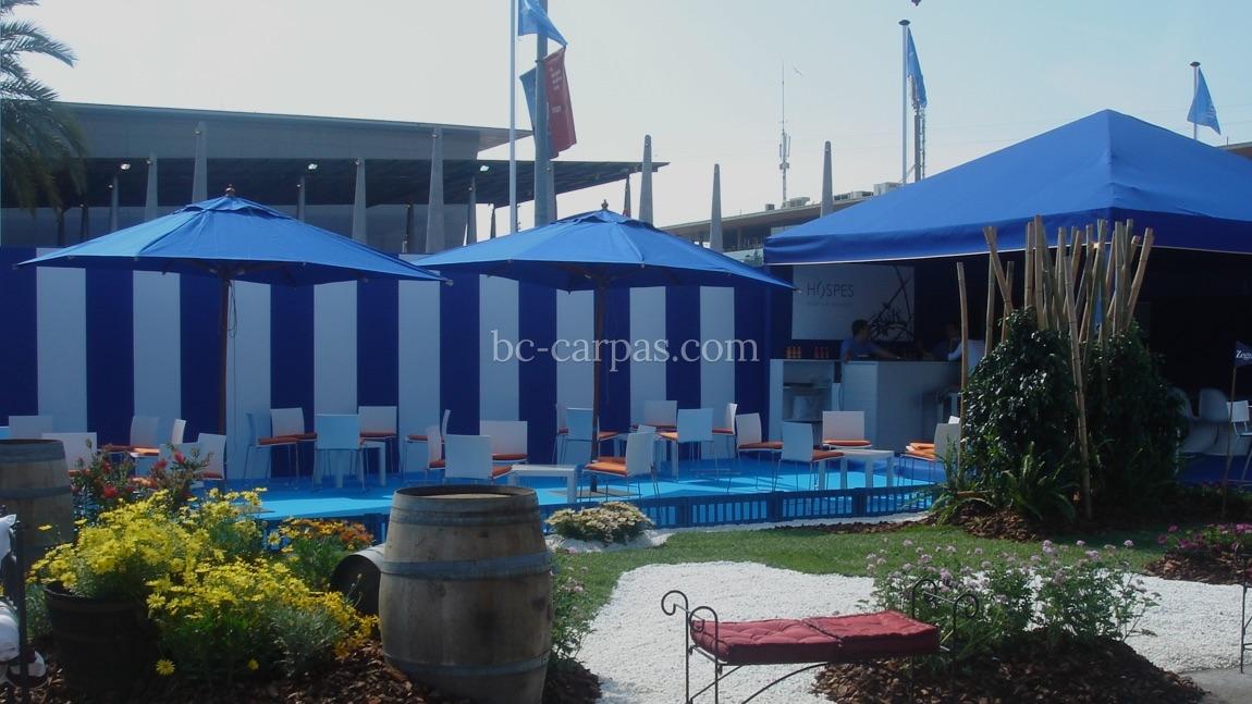 Alquiler de parasoles y sombrillas para eventos 3