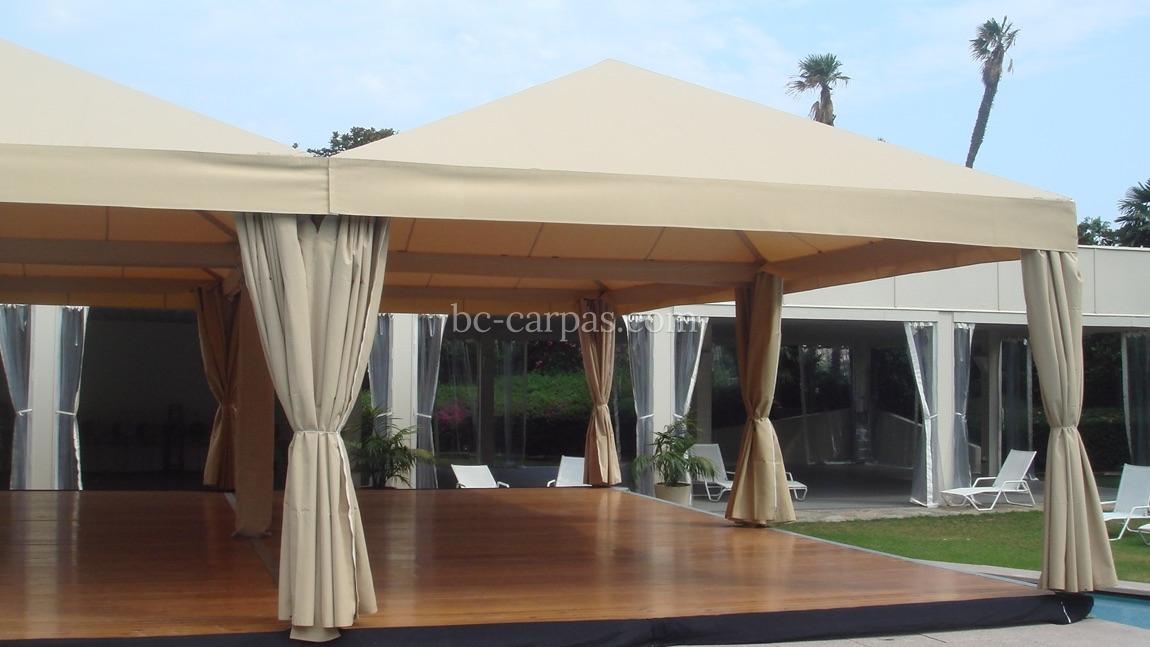Alquiler de tarimas para bodas y celebraciones bc carpas for Carpas de madera para jardin