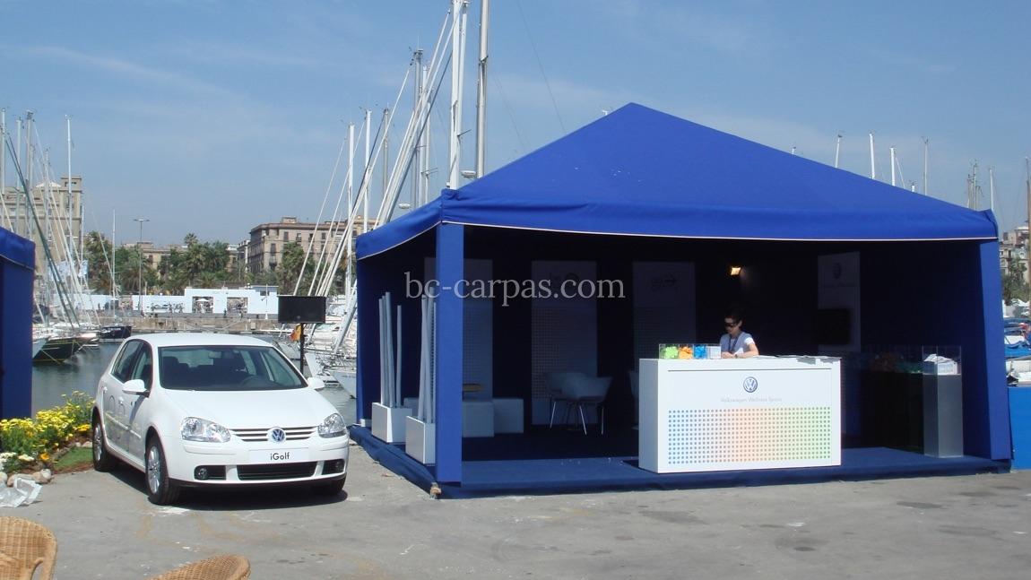 Alquiler de carpas para eventos de color azul bc carpas for Carpas para coches