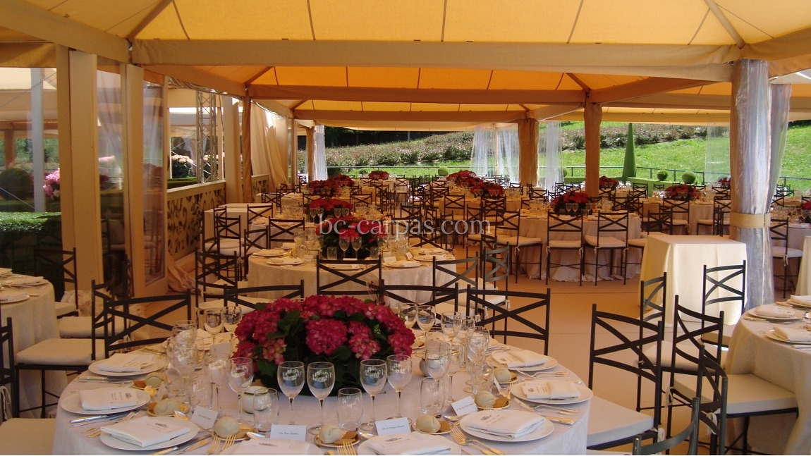 Sand coloured marquee hire 2