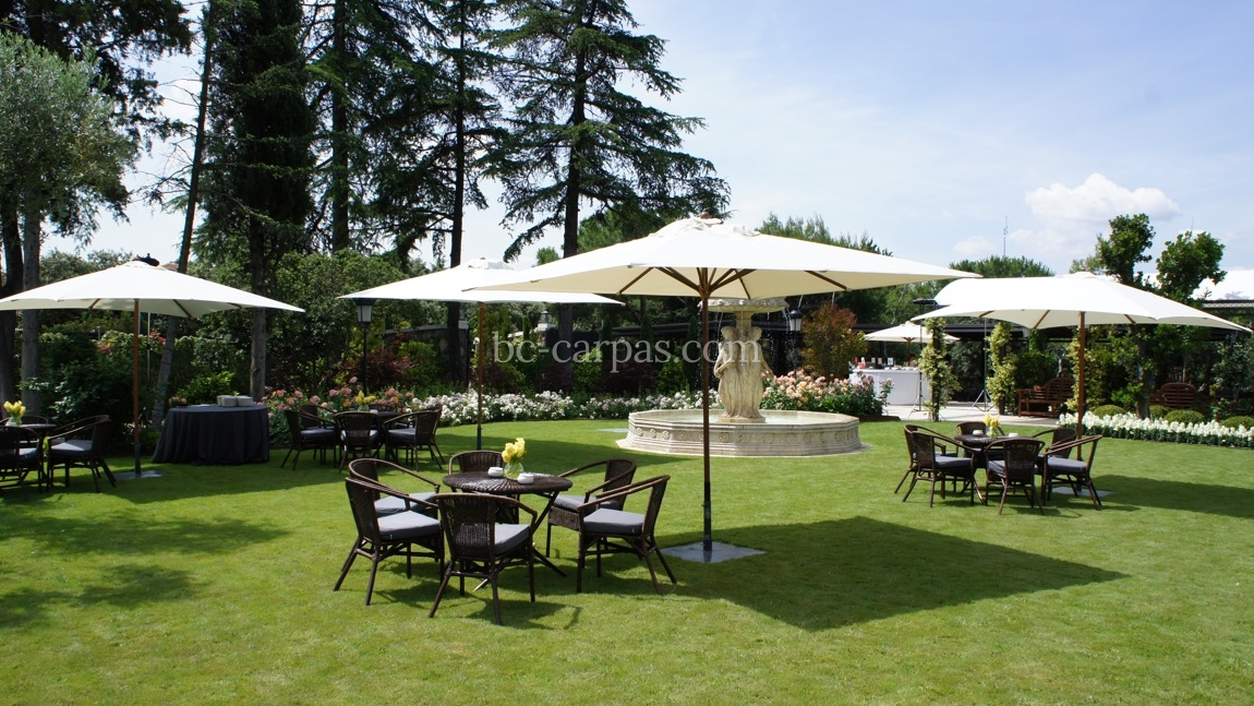 Parasol and umbrella hire for weddings and celebrations 4