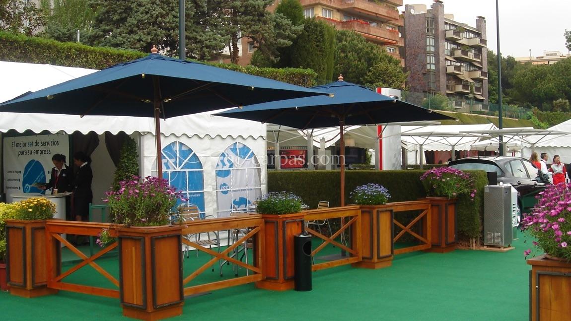 Alquiler de parasoles y sombrillas para eventos 7