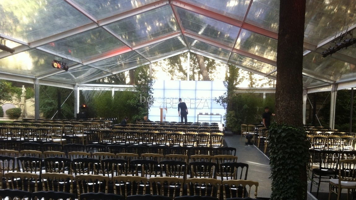 Transparent marquee hire for events 15