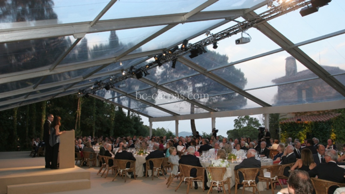 Large pavilion style marquee hire 1
