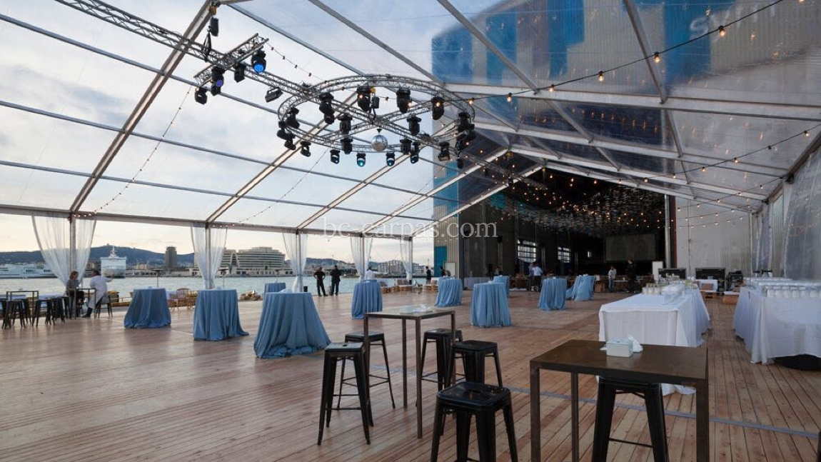 Large pavilion style marquee hire 6