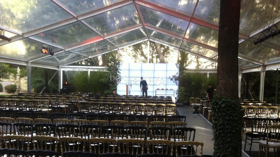 Large pavilion style marquee hire 7
